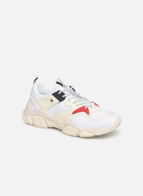 Tommy Hilfiger WMN CHUNKY MIXED TEXTILE TRAINER (Blanc