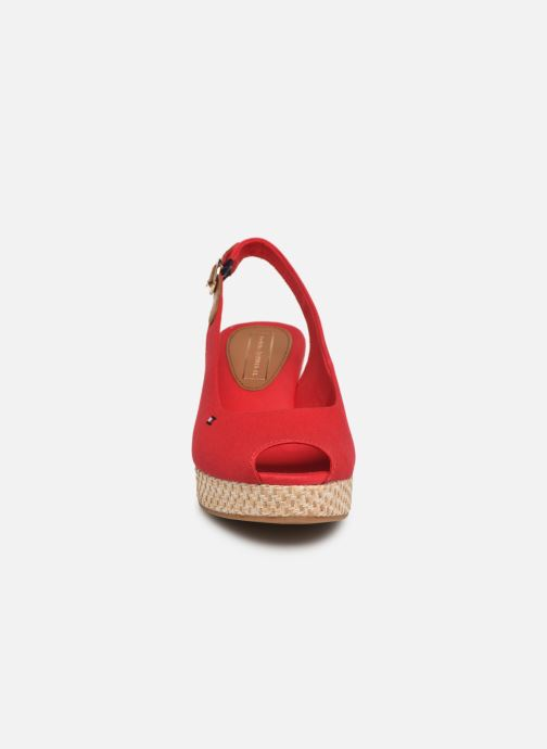 Sandales et nu-pieds Tommy Hilfiger ICONIC ELBA BASIC SLING BACK Rouge vue portées chaussures