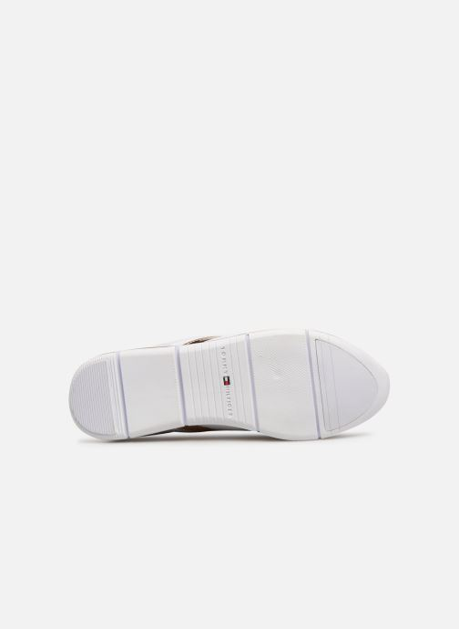 Baskets Tommy Hilfiger IRIDESCENT LIGHT SNEAKER Blanc vue haut
