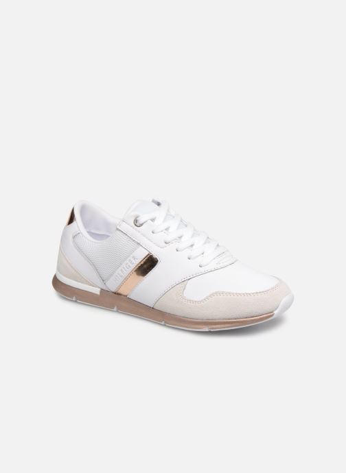 Baskets Tommy Hilfiger IRIDESCENT LIGHT SNEAKER Blanc vue détail/paire