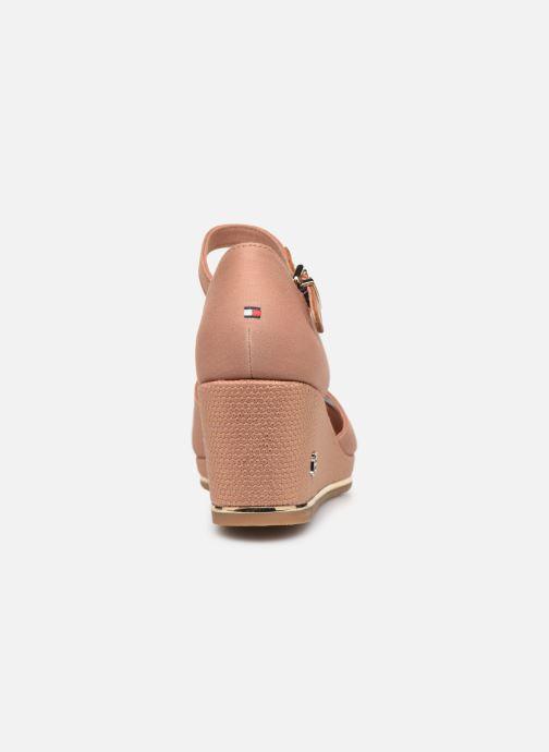Sandali e scarpe aperte Tommy Hilfiger FEMININE MID WEDGE SANDAL BASIC Beige immagine destra
