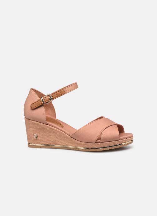 Sandali e scarpe aperte Tommy Hilfiger FEMININE MID WEDGE SANDAL BASIC Beige immagine posteriore