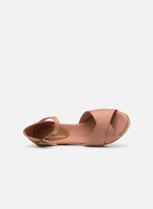 Sandales et nu-pieds Tommy Hilfiger FEMININE MID WEDGE SANDAL BASIC Beige vue gauche