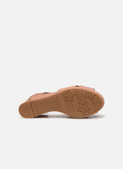Sandales et nu-pieds Tommy Hilfiger FEMININE MID WEDGE SANDAL BASIC Beige vue haut
