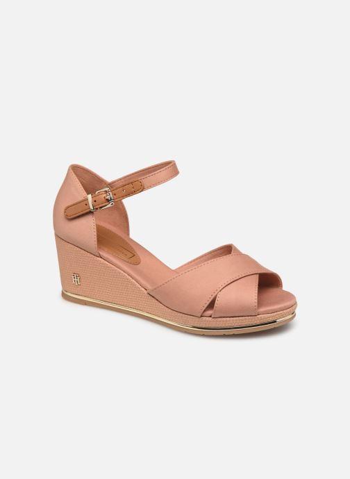Sandaler Tommy Hilfiger FEMININE MID WEDGE SANDAL BASIC Beige detaljeret billede af skoene