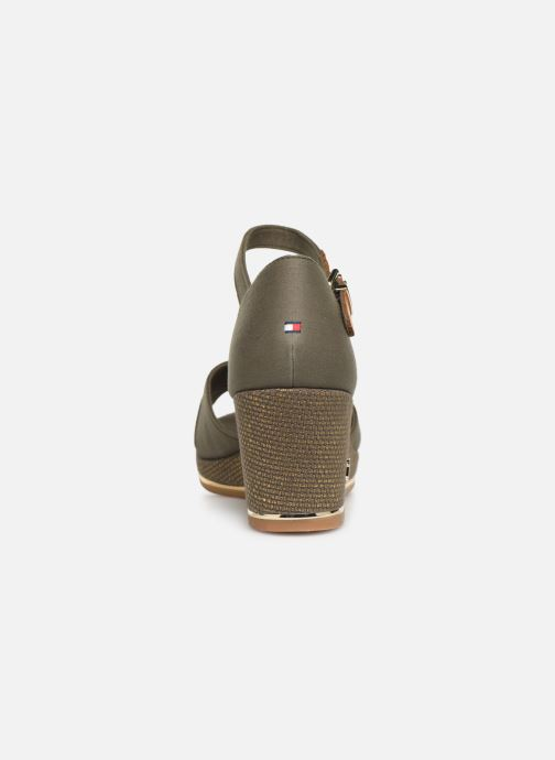 Sandales et nu-pieds Tommy Hilfiger FEMININE MID WEDGE SANDAL BASIC Vert vue droite