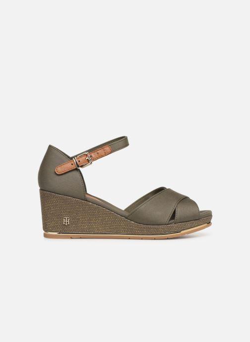 Sandali e scarpe aperte Tommy Hilfiger FEMININE MID WEDGE SANDAL BASIC Verde immagine posteriore