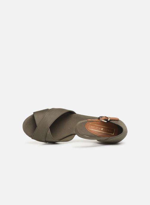 Sandali e scarpe aperte Tommy Hilfiger FEMININE MID WEDGE SANDAL BASIC Verde immagine sinistra