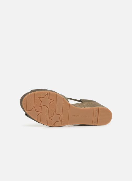 Sandales et nu-pieds Tommy Hilfiger FEMININE MID WEDGE SANDAL BASIC Vert vue haut