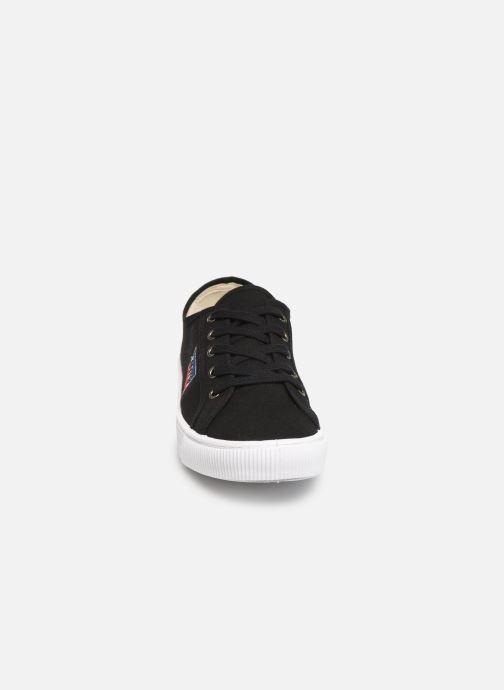 Sneaker Levi's Malibu Sportswear schwarz schuhe getragen