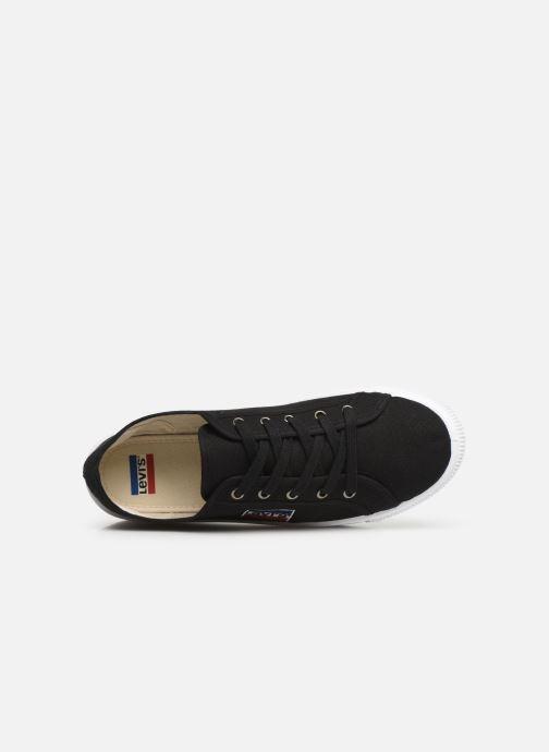 Sneaker Levi's Malibu Sportswear schwarz ansicht von links