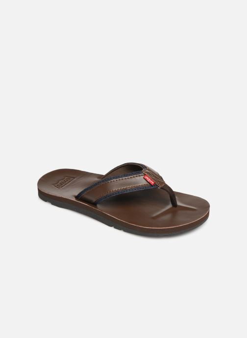 Flip flops Levi's Jurupa Brown detailed view/ Pair view