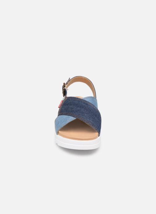 Sandales et nu-pieds Levi's Persia Bleu vue portées chaussures