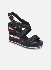 TOMMY RAFFIA WEDGE SANDAL