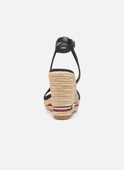 Sandales et nu-pieds Tommy Hilfiger ICONIC ELENA CORPORATE RIBBON Bleu vue droite