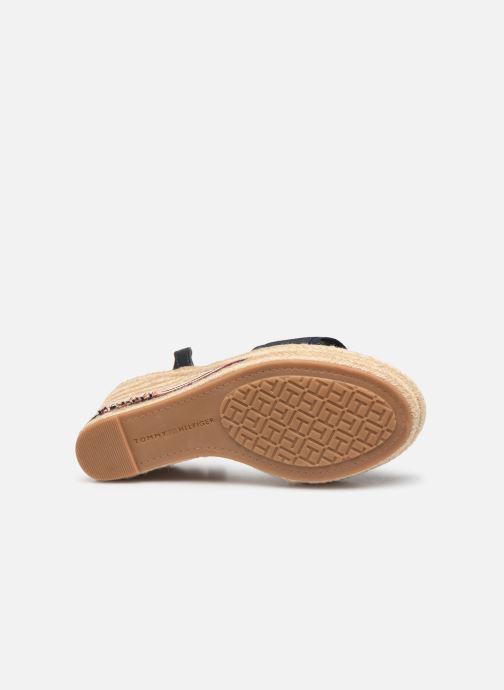 Sandales et nu-pieds Tommy Hilfiger ICONIC ELENA CORPORATE RIBBON Bleu vue haut
