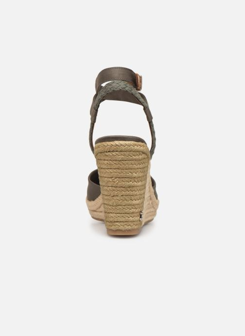 Sandali e scarpe aperte Tommy Hilfiger PRINTED CLOSED TOE WEDGE SANDAL Verde immagine destra