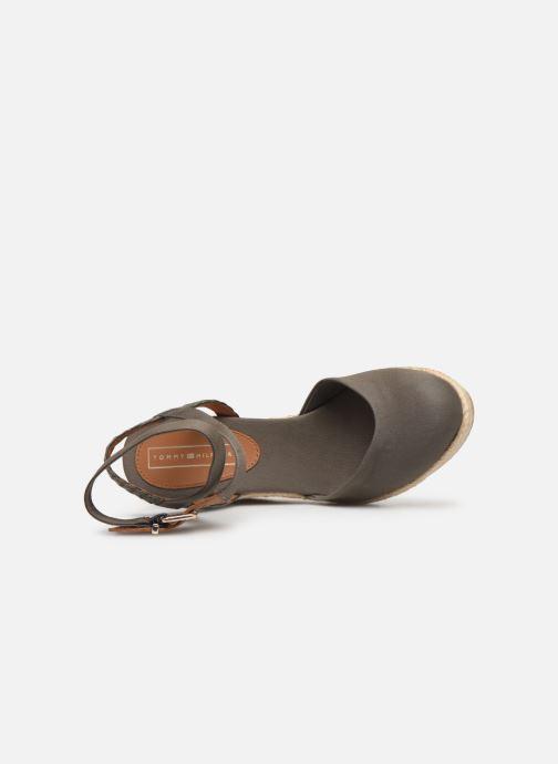 Sandali e scarpe aperte Tommy Hilfiger PRINTED CLOSED TOE WEDGE SANDAL Verde immagine sinistra