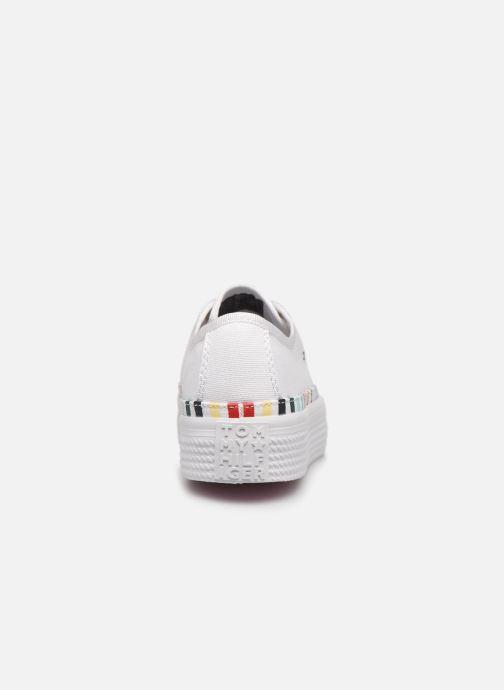 Baskets Tommy Hilfiger Rainbow platform sneaker Blanc vue droite