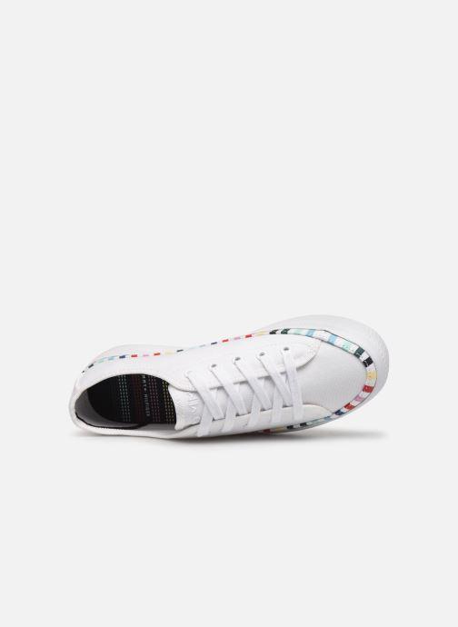 Baskets Tommy Hilfiger Rainbow platform sneaker Blanc vue gauche