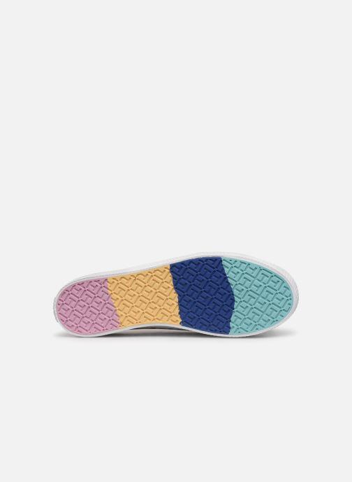 Baskets Tommy Hilfiger Rainbow platform sneaker Blanc vue haut