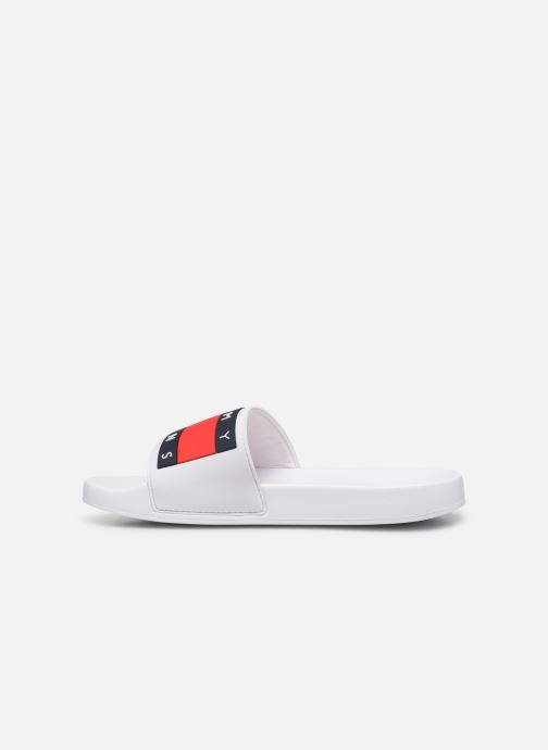 Wedges Tommy Hilfiger TOMMY JEANS FLAG POOL SLIDE Wit voorkant