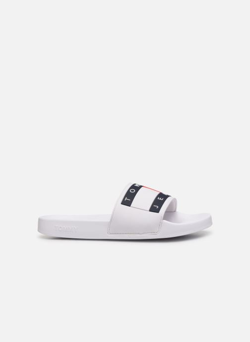 Wedges Tommy Hilfiger TOMMY JEANS FLAG POOL SLIDE Wit achterkant