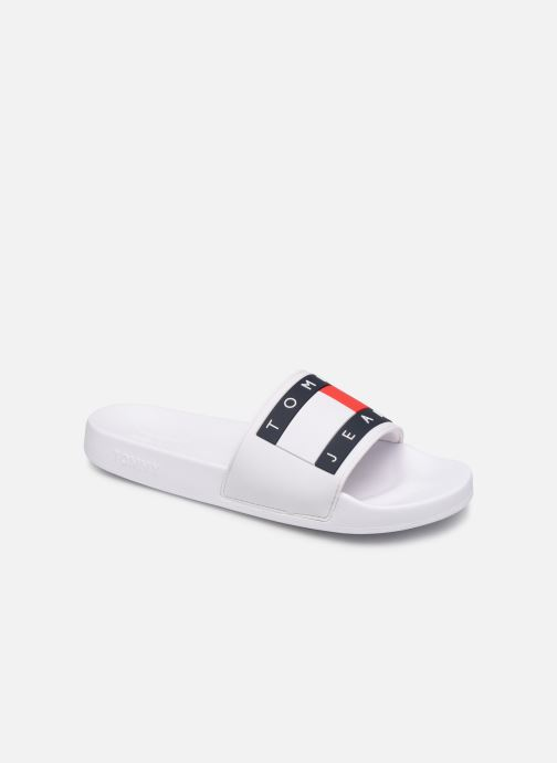 Wedges Tommy Hilfiger TOMMY JEANS FLAG POOL SLIDE Wit detail