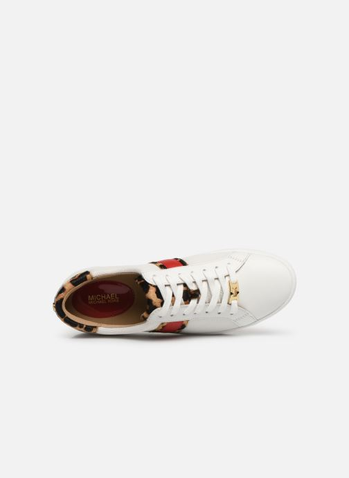 Baskets Michael Michael Kors Irving Stripe Lace Up Blanc vue gauche
