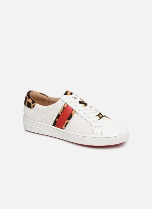 Baskets Michael Michael Kors Irving Stripe Lace Up Blanc vue détail/paire
