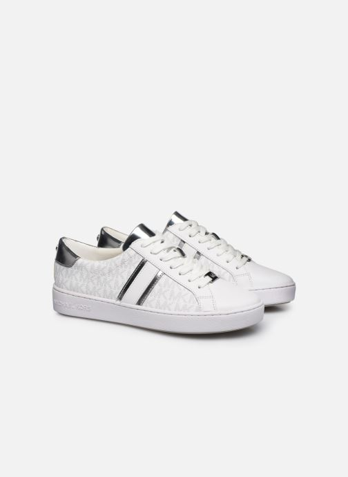 Sneakers Michael Michael Kors Irving Stripe Lace Up Bianco immagine 3/4