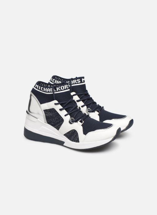 Baskets Michael Michael Kors Hilda Trainer Bleu vue 3/4