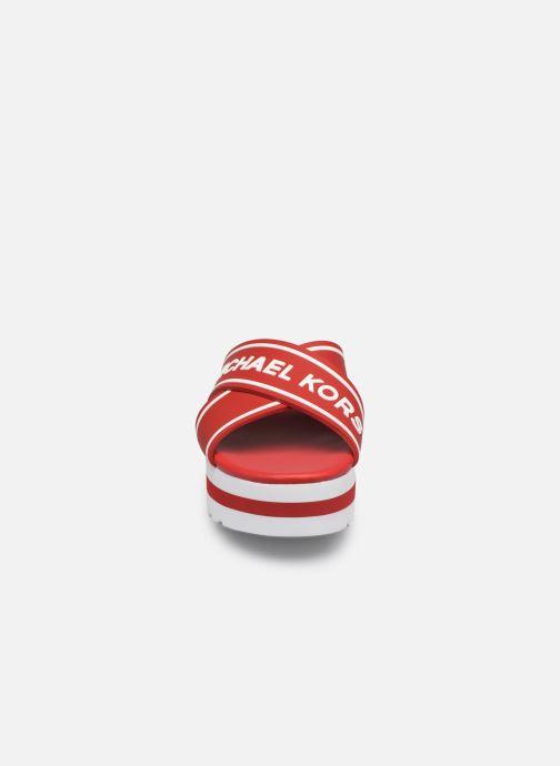 Mules et sabots Michael Michael Kors Demi Sport Sandal Rouge vue portées chaussures