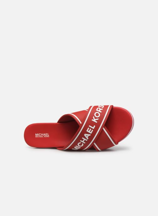 Mules et sabots Michael Michael Kors Demi Sport Sandal Rouge vue gauche