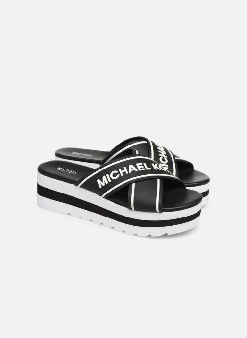 Zuecos Michael Michael Kors Demi Sport Sandal Negro vista 3/4