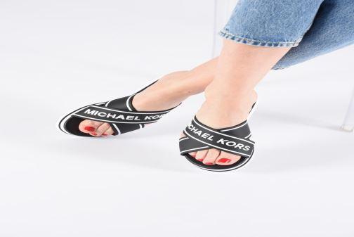 Zuecos Michael Michael Kors Demi Sport Sandal Negro vista de abajo