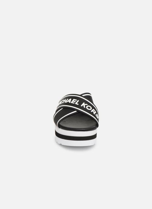 Zuecos Michael Michael Kors Demi Sport Sandal Negro vista del modelo