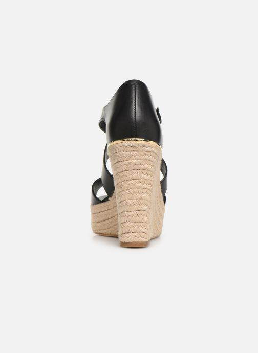 Scarpe di corda Michael Michael Kors Abbott Wedge Nero immagine destra