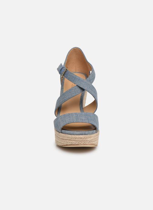 Espadrilles Michael Michael Kors Abbott Wedge Bleu vue portées chaussures