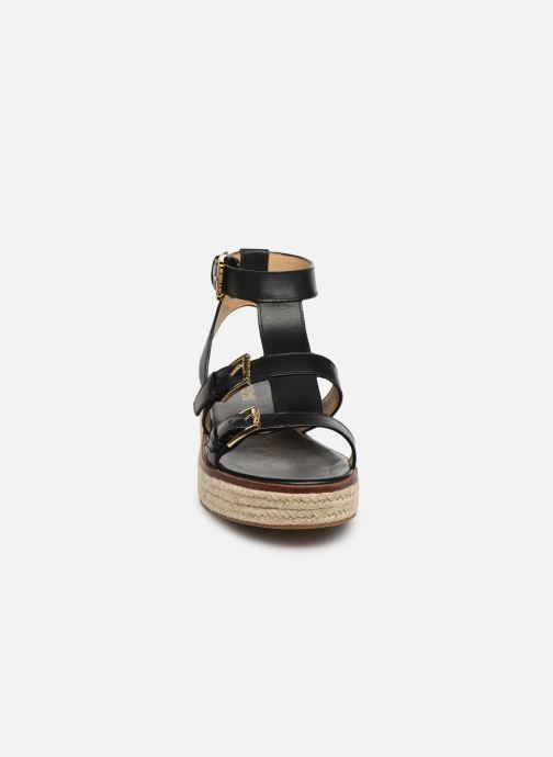 Espadrilles Michael Michael Kors Cunningham Sandal Noir vue portées chaussures