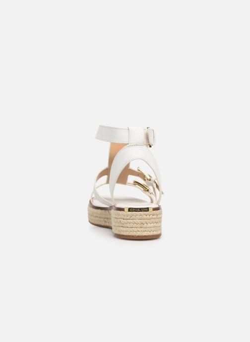Scarpe di corda Michael Michael Kors Cunningham Sandal Bianco immagine destra