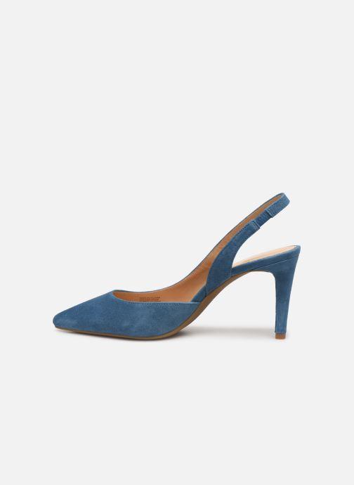 Zapatos de tacón Michael Michael Kors Lucille Flex Sling Azul vista de frente