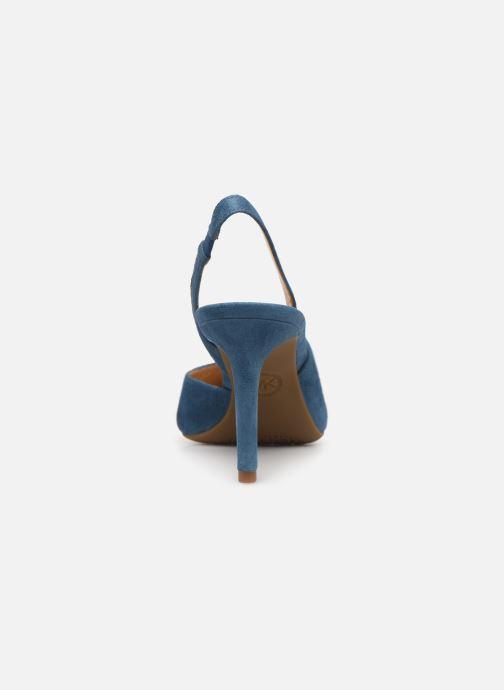 Zapatos de tacón Michael Michael Kors Lucille Flex Sling Azul vista lateral derecha