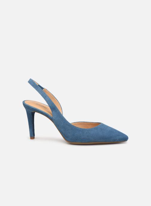 Zapatos de tacón Michael Michael Kors Lucille Flex Sling Azul vistra trasera