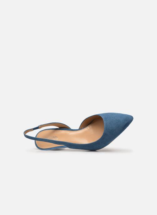 Zapatos de tacón Michael Michael Kors Lucille Flex Sling Azul vista lateral izquierda