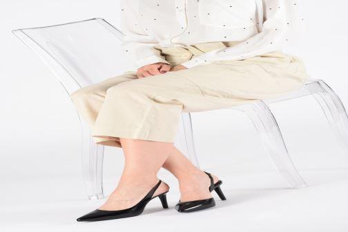 Zapatos de tacón Michael Michael Kors Lucille Flex Sling Negro vista de abajo