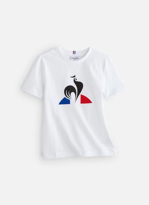 Vêtements Le Coq Sportif ESS Tee SS N°2 JUNIOR Blanc vue détail/paire