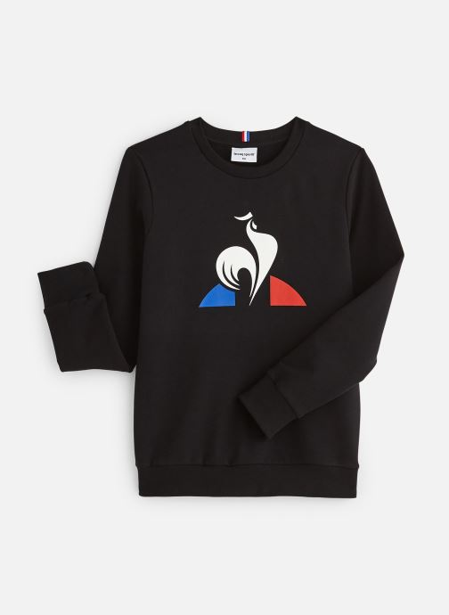 Kleding Le Coq Sportif ESS Crew Sweat N°2 JUNIOR Zwart detail