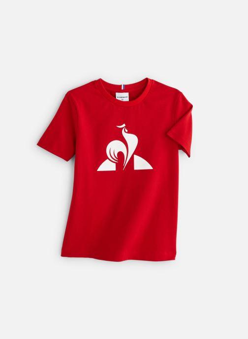 Vêtements Le Coq Sportif ESS Tee SS N°1 JUNIOR Rouge vue détail/paire