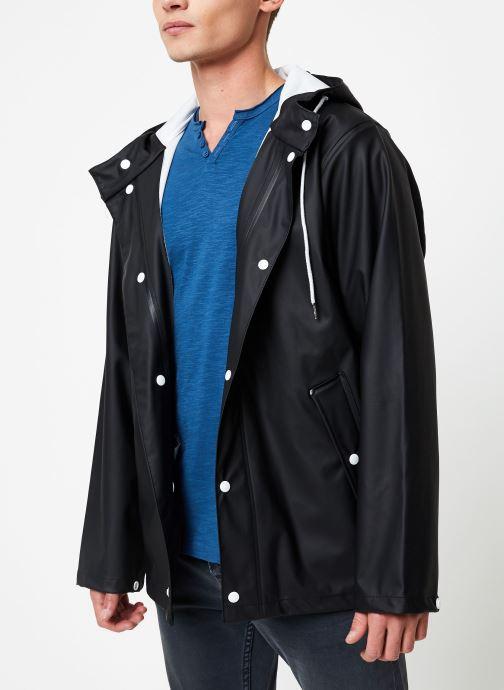 Vêtements Tretorn WINGS SHORT RAIN JACKET Noir vue droite